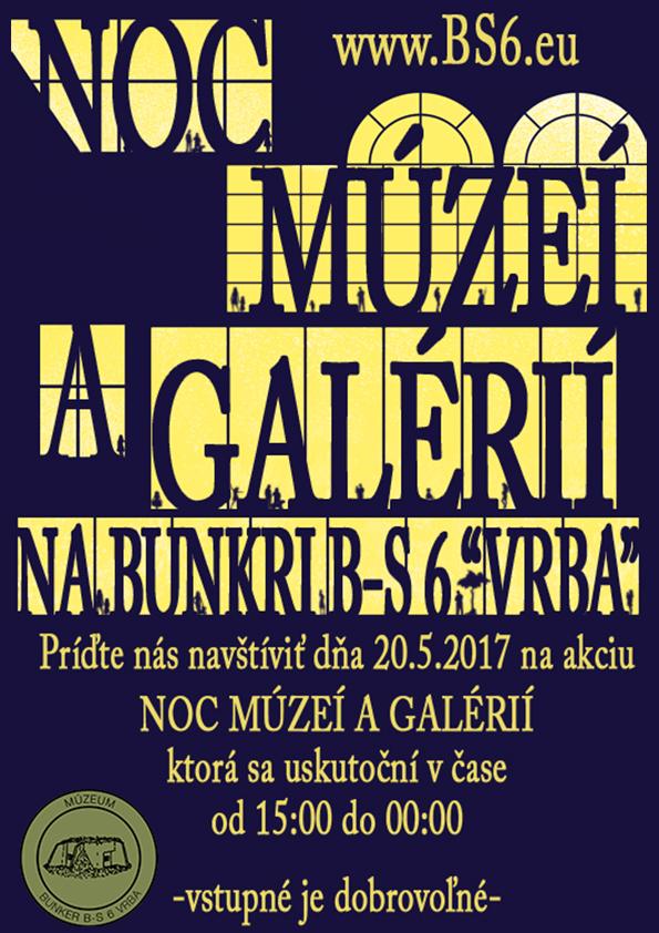 Plagát Noc múzeí a galérií 2017